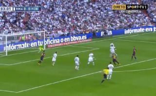 Neymar y el golazo que marcó en el Real Madrid-Barcelona