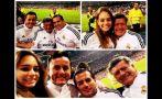 Acuña y sus hijos presenciaron el Real Madrid-Barcelona
