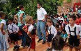 Ollanta Humala inauguró sistema de huaros y bailó tirolés