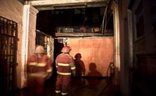 Otuzco: incendio en la Plaza de Armas causó gran alarma