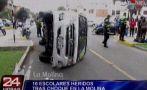 La Molina: choque a movilidad escolar dejó 10 menores heridos