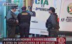San Miguel: sicarios matan a balazos a cliente en sanguchería