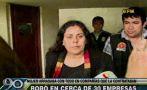 Cayó secretaria que estafó al menos a 28 empresas en Miraflores
