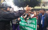 Serpar: protesta dispersada con lacrimógenas cerca del Congreso