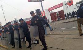 FOTOS: tensión en la Videna antes de las elecciones de la FPF