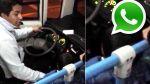 Vía WhatsApp: chofer maneja un bus mientras juega con su hijo - Noticias de pasajero