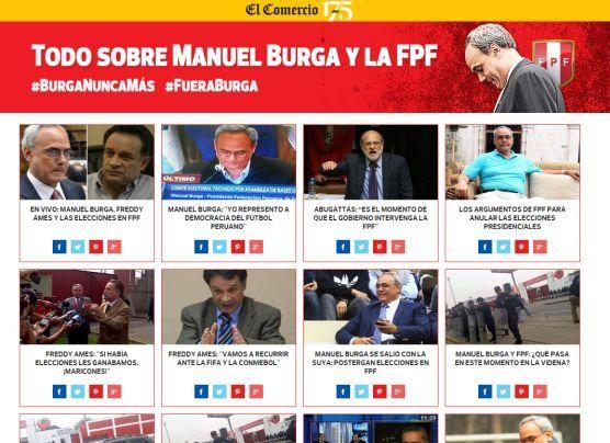 Manuel Burga y el frustrado proceso electoral en la FPF