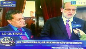 Noriega fue al Congreso a quejarse con Abugattás