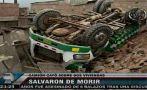 Villa María del Triunfo: un camión cayó sobre dos viviendas