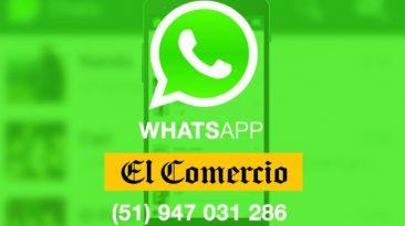 El Comercio ahora recibirá tus colaboraciones vía WhatsApp