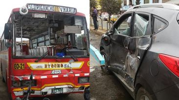 Accidente entre bus y carro privado dejó nueve heridos en SJM