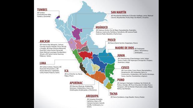 En estas localidades se realizará la segunda vuelta electoral. (Foto: JNE / Difusión)