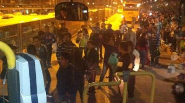 Metropolitano: estación Naranjal fue tomada por pasajeros