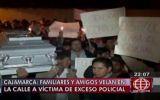 Cajamarca: reclamaron a la policía por la muerte de desalojado