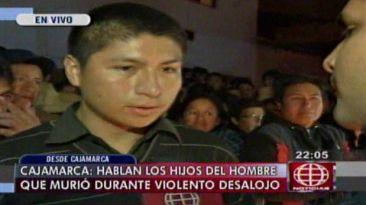 Desalojo en Cajamarca: hijos de víctima exigieron justicia