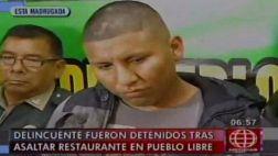 Balacera en Pueblo Libre: policía capturó a tres asaltantes