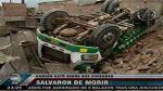 Villa María del Triunfo: un camión cayó sobre dos viviendas - Noticias de accidentes