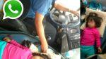 Vía WhatsApp: chofer maneja con niña durmiendo encima del motor - Noticias de año nuevo 2014
