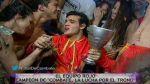 Combate: Mario Irivarren alzó la copa del equipo rojo - Noticias de paloma fiuza