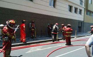 Amago de incendio se registró en sótano de Nicolás de Piérola