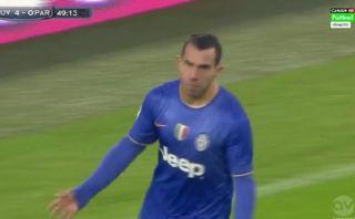 Juventus vs. Parma: Tevez anotó golazo con autopase incluido