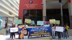 Plantón por Paul Olórtiga se realizó frente a Poder Judicial - Noticias de paul olortiga contreras
