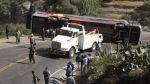 Accidente de bus interprovincial deja al menos 22 heridos - Noticias de accidente de bus