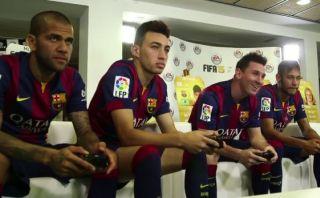 YouTube: jugadores del Barcelona se enfrentan por el FIFA 15