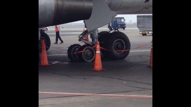 Aeropuerto Jorge Chávez estuvo cerrado por falla en aterrizaje