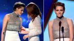 Kristen Stewart dejó ver parte de sus senos en premiación - Noticias de en vivo