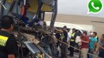 Vía WhatsApp: al menos un muerto deja choque en Cerro Azul - Noticias de empresa de transporte flores