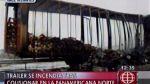 Huacho: 10 mil pollos quedaron carbonizados dentro de camión - Noticias de peaje