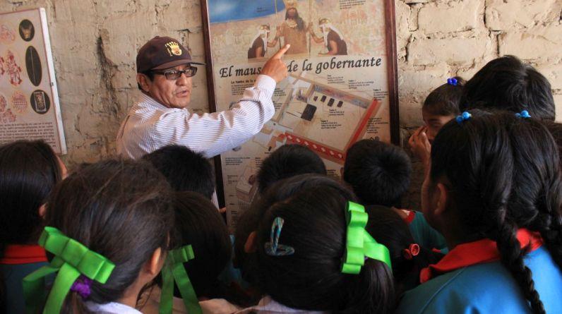 El director del proyecto arqueológico El Brujo, Régulo Franco, dijo que antes los escolares del distrito de Magdalena de Cao, en la provincia de Ascope, La Libertad, conocían poco sobre su patrimonio. (Foto: Johnny Aurazo)