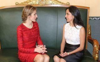 Nadine Heredia se reunió con la reina Letizia de España