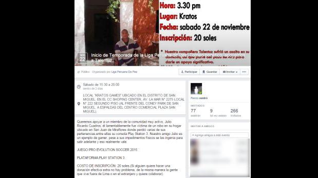 (Foto: Facebook de Liga Peruana de PES)