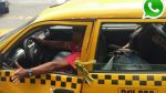Vía WhatsApp: este conductor amarra la puerta con una soga - Noticias de pasajero