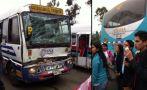 Vía WhatsApp: choque entre cúster y bus detrás del Pentagonito