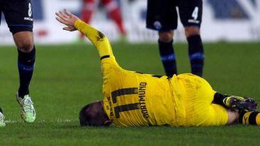 Borussia Dortmund: Marco Reus se volvió a lesionar el tobillo