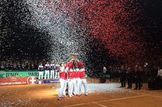 Copa Davis: Suiza y Federer celebraron así título que faltaba