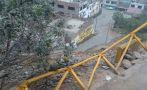 El Agustino: vecinos caen a barranco por mal estado de escalera