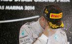 Lewis Hamilton y su emotiva celebración en el GP de Abu Dabi