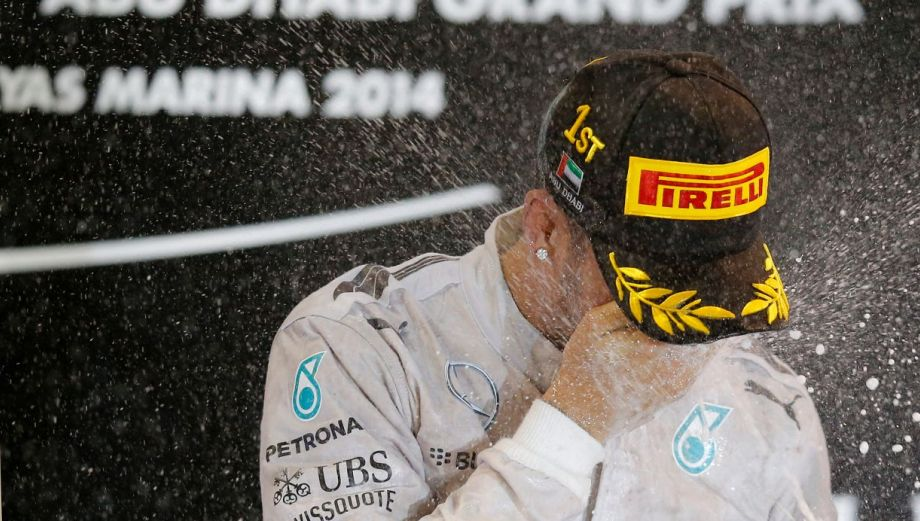 Hamilton y su emotivo festejo al ser campeón de la Fórmula 1