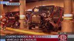 Vía Expresa: choque de camión de Hermes dejó cuatro heridos - Noticias de vía expresa