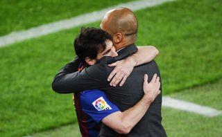 """Guardiola: """"Me haría feliz que Messi acabe su carrera en Barza"""""""