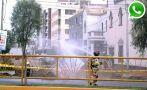 Vía WhatsApp: obras ocasionaron fuga de gas en la Av. Brasil