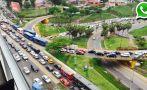 Costa Verde: cierre de vía ocasionó congestión en Barranco