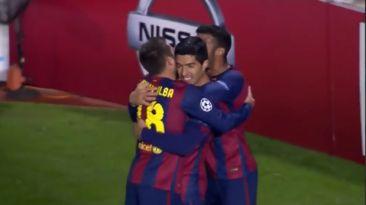Barcelona vs. Apoel: Suárez marcó su primer gol con equipo culé