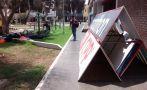 Club César Vallejo usó parque para almacenar publicidad