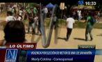 Video: universitarios de San Martín se enfrentan por elecciones