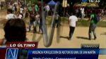 Video: universitarios de San Martín se enfrentan por elecciones - Noticias de ley universitaria